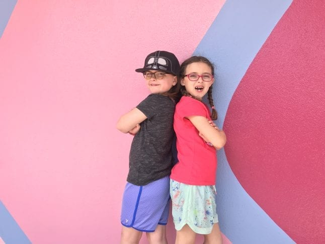 Where is the Bubblegum Wall? Find this Instagram wall outside of Spaceship Earth in Epcot.
