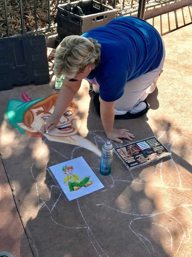Chalk art at Epcot International Festival of the Arts