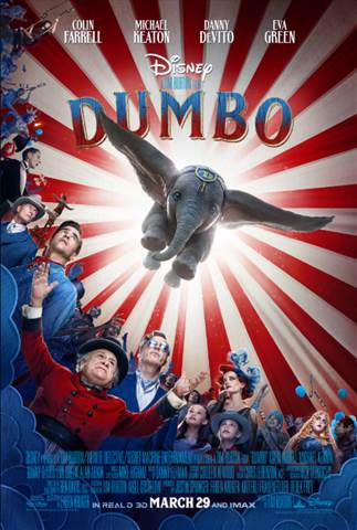 A live action remake of Dumbo will open in March of 2019.