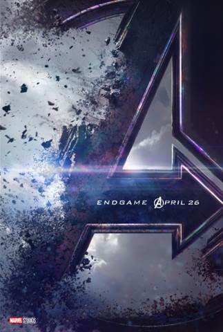 Avengers End Game title poster.