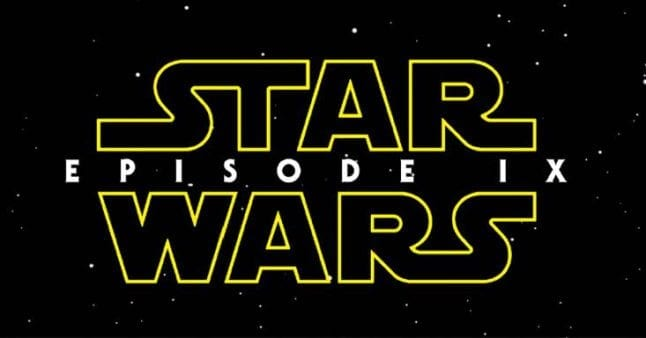 Star Wars Episode IX opens December 20, 2019.