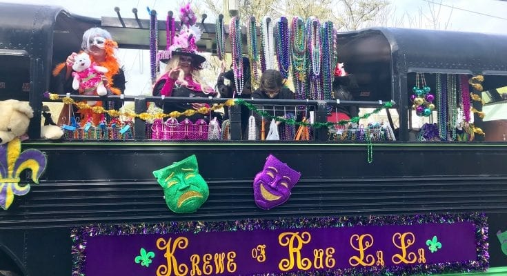 Enjoy a local Mardi Gras parade when you visit Mississippi.