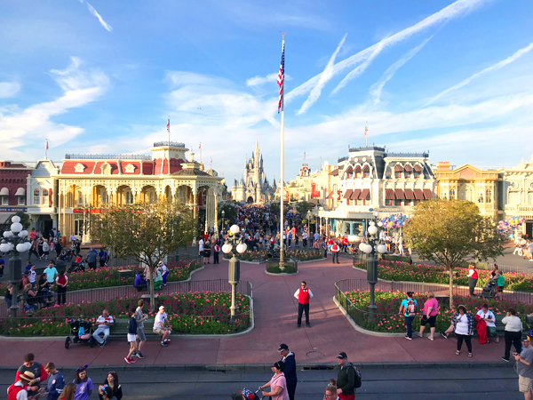 View of Main Street USA from the train station.