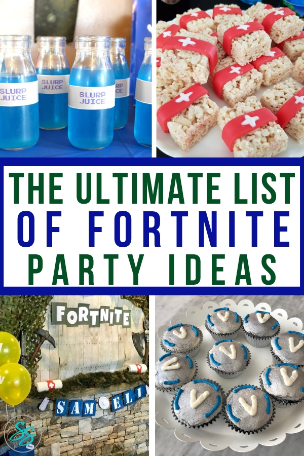 Need some Fornite party ideas for kids? This list has all the ideas you need! From food to decor to games, everything is Fornite! #fortniteparty #fornitefood #fortnitegames #fortnitepartyideas #birthdayparty
