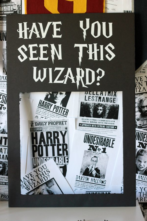 Harry Potter inspired photo booth prop.