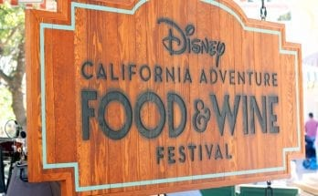 Disney California Food and Wine Festival Signage