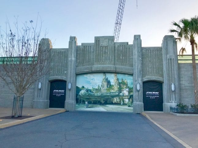 Galaxy' Edge Construction Sign at Hollywood Studios