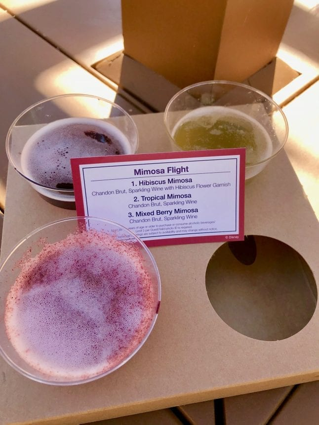 The Mimosa flight from Uncorked California at the Disney Food and Wine Festival.