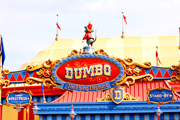 Another best ride for preschoolers at Magic Kingdom is Dumbo the Flying Elephant.