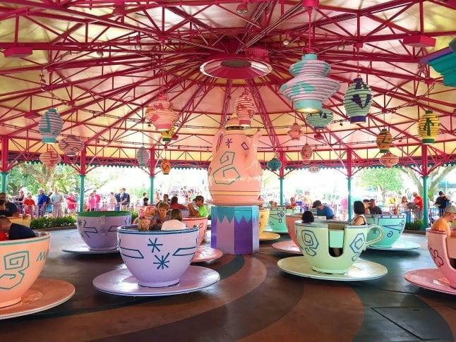 Preschoolers will love the Mad Tea Party ride at Magic Kingdom.