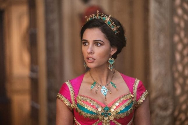 Naomi Scott as Jasmine in DIsney's live action Aladdin remake.