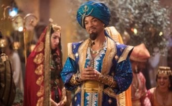 Will Smith is the Genie in human form during a scene in Disney's Aladdin remake.