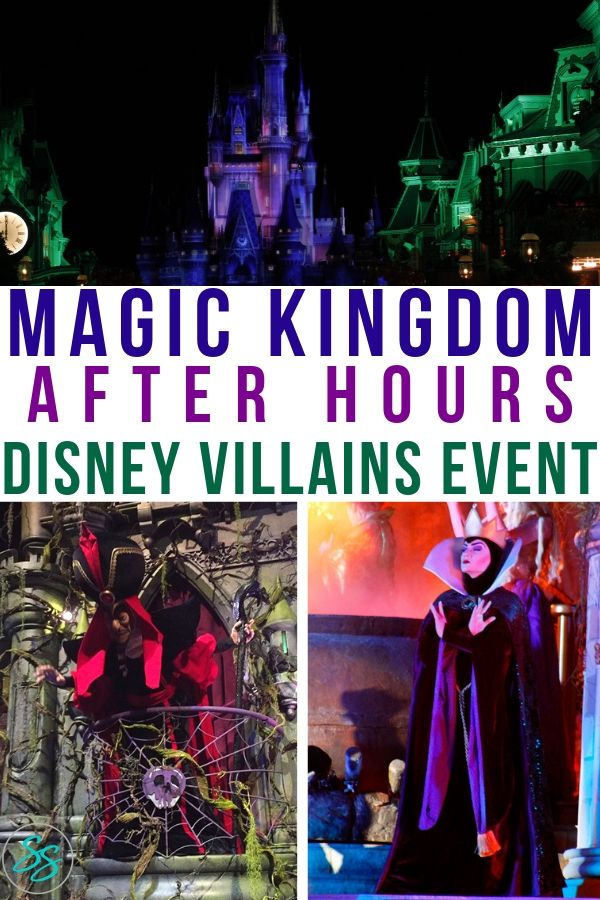 Disney Villains After Hours Event Pinterest Style Image