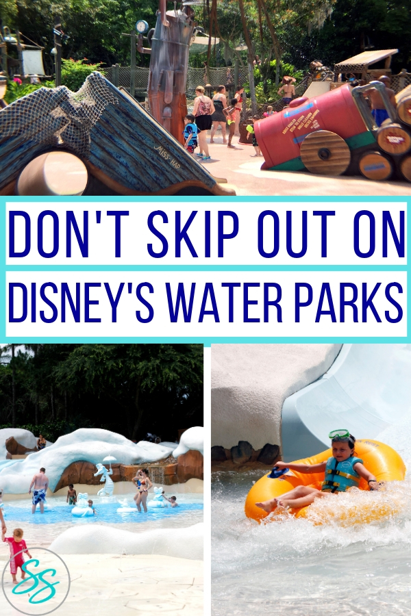 Make sure to add a water park visit to your Disney vacation! Check out these great reasons to visit Disney's water parks. #disneytravle #disneywaterparks #typhoonlagoon #blizzardbeach