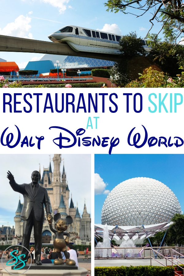 Disney World offers lots of dining choices. These are the Disney World restaurants you can skip next time you visit. #disneytravel #disneyworld #disneydining #disneyrestaurants