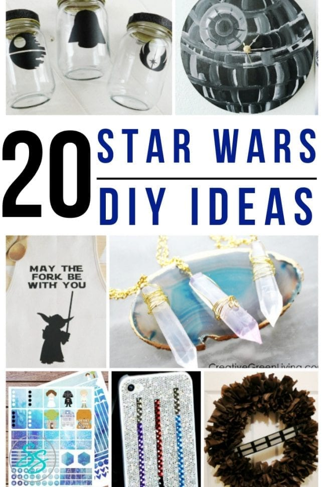 Check out these fun DIY Star Wars ideas perfect for the stylish Star Wars fan! #starwars #starwarsdiy #starwarsfan #diystarwars