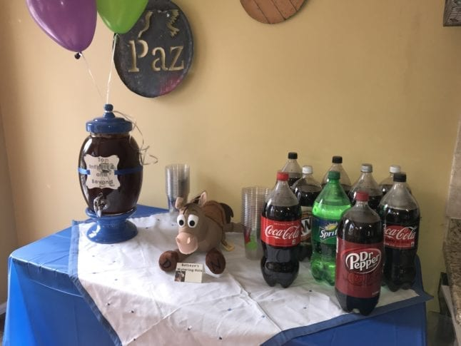 Watering hole at Toy Story themed party