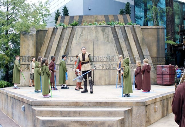 Children awaiting instructions during Jedi Training at Hollywood Studios.