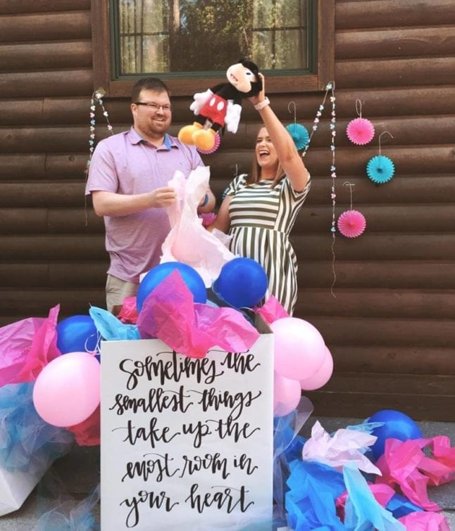 Baby gender reveal at Disney's Ft. Wilderness resort.