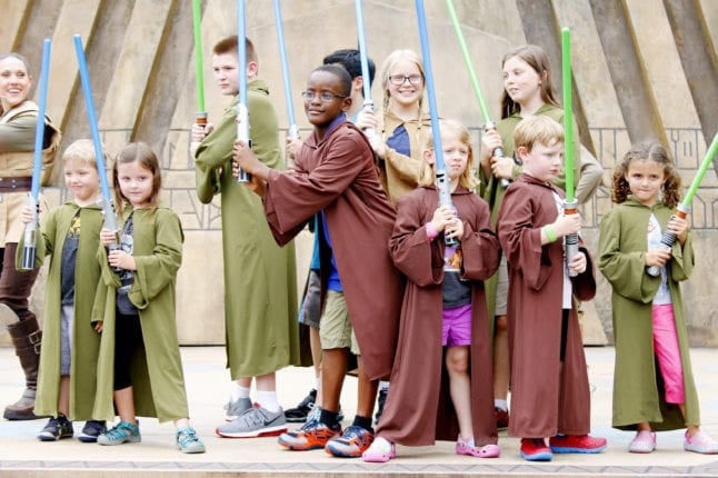Children posing at the end of their Jedi Training experience.