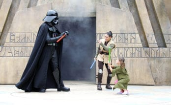 Going Up Against Darth Vader at Jedi Training.