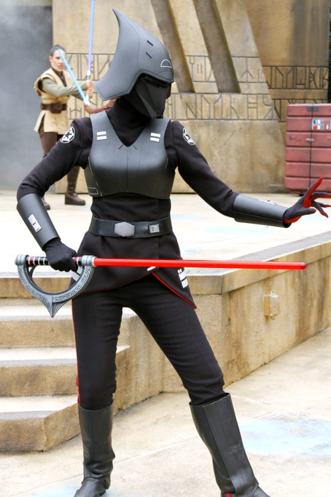 Seventh Sister Inquisitor at Jedi Training is a Dark Side villain you may face.
