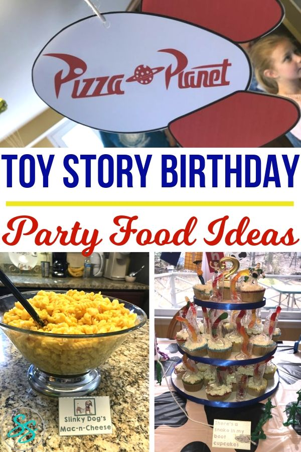 Make your next Toy Story party out of this world with these easy, fun party food ideas! #toystory #birthdayparty #partyfood #disneyparty