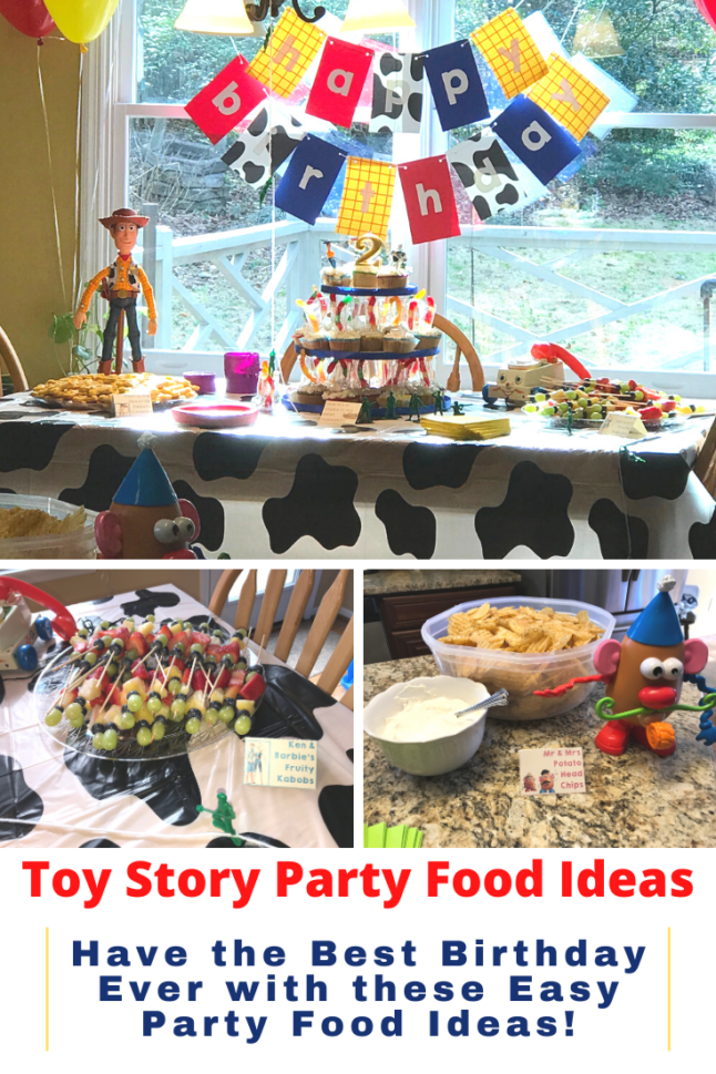 Throwing a Toy Story party? Then check out these easy ideas to make the party food fun! Toy Story party food ideas are simple and fun to create! #disneyparty #toystory #toystoryparty