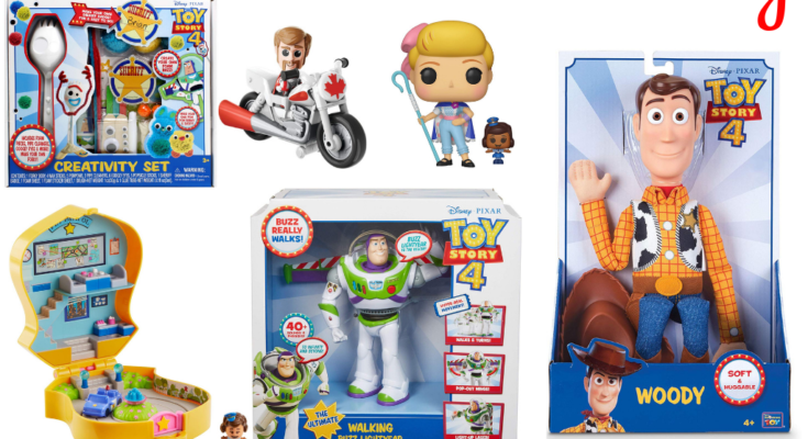 Toys available in the Toy Story 4 giveaway.