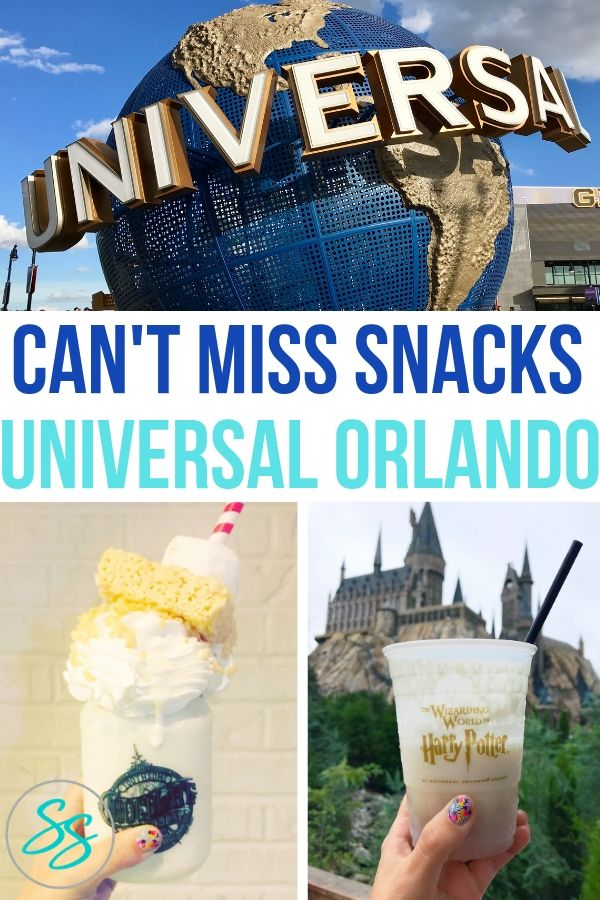 Don't miss this delicious snacks on your next visit to Universal Orlando! #universalorlando #themeparksnacks #universalstudios #snackfood #traveltips