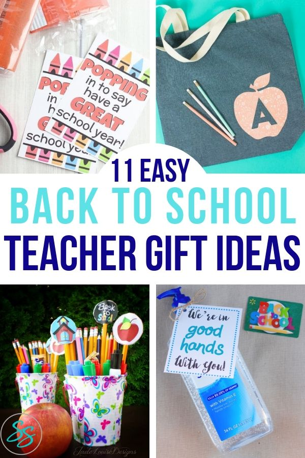 Start the year off on the right foot with these 11 easy teacher gift ideas! #teachergifts #giftidea #diy #diygift #backtoschool