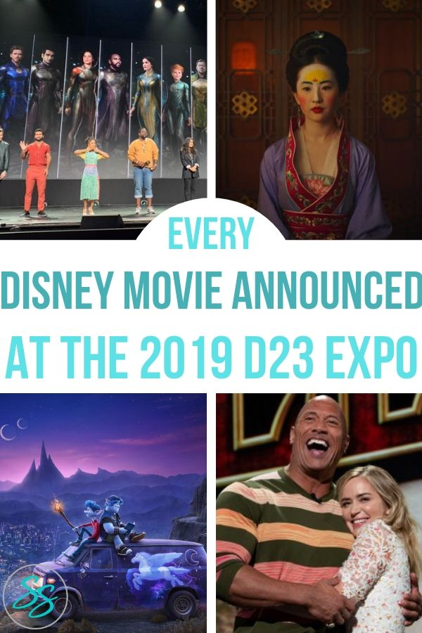 Learn what movies were announced at the 2019 D23 Expo with this handy guide! #d23expo #d23expo2019 #disneymovies #disneyanimation #pixar #marvel #starwars