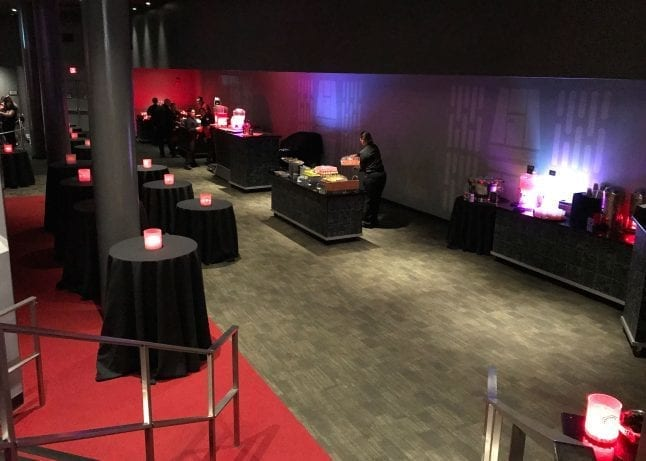 Room where Star Wars dessert party is held at Hollywood Studios
