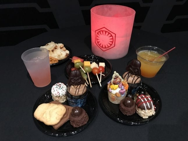 Star Wars dessert party table at Hollywood Studios