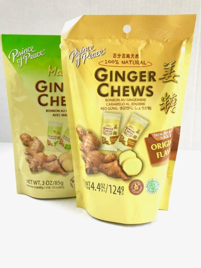 Ginger chews for digestion from Prince of Peace.