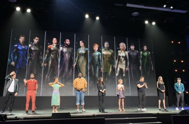 The Enternals cast revealed costumes at D23.
