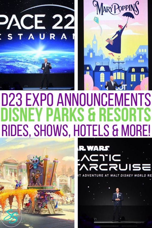 Learn what's new at Disney Parks! All the announcements from the 2019 D23 Expo in one place! #d23expo #d23expo2019 #disneyparks #wdw #disneyland #disneytravel