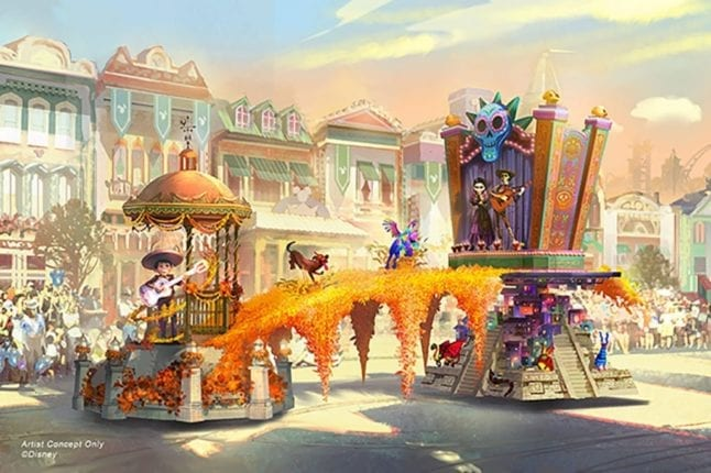 New at Disney Parks next year are parades like Magic Happens in Disneyland!