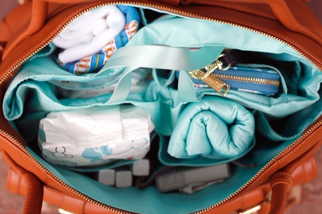 The Lily Jade diaper bag insert is great for organizing.