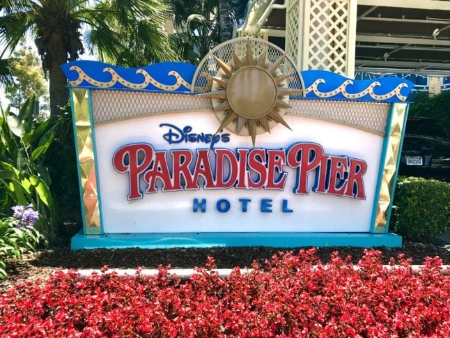 One of the Disney hotels, Paradise Pier, is the only value hotel of the bunch.