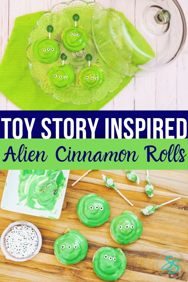 Make breakfast fun again with these easy Toy Story cinnamon rolls! #toystory #recipe #toystoryfood #easytomake #breakfast