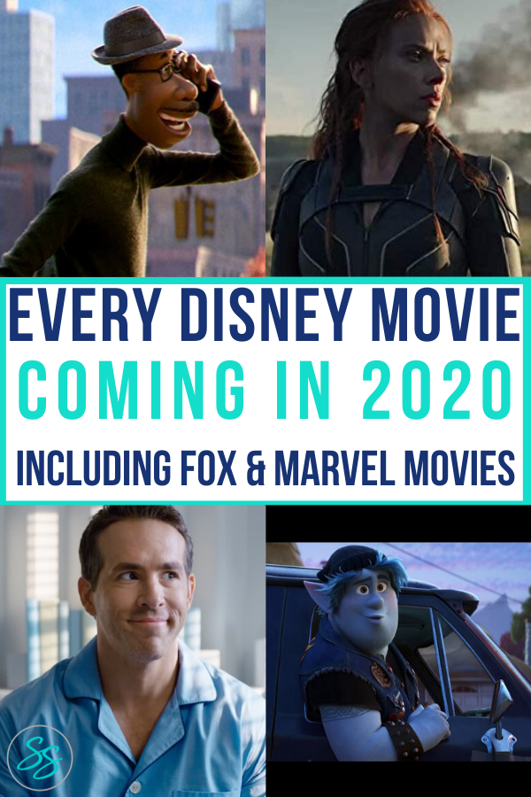 Wanna know what movies are releasing this year and when? Check out the 2020 movie slate from the Walt Disney Company. Movies include Fox, Pixar, Marvel, and Disney Animation movies. Release dates are also included. #disneymovie #pixarmovies #2020movies