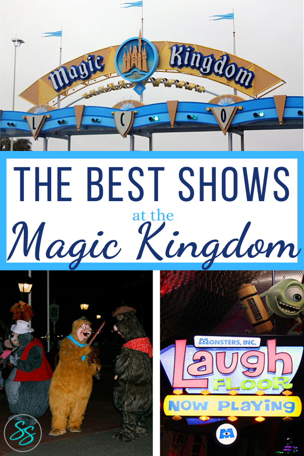 Looking for something to do at Magic Kingdom other than rides? Check out this list of the best shows at Magic Kingdom, perfect for escaping the weather and sitting a spell! #disneyworld #disneytraveltips #disneyworldshows