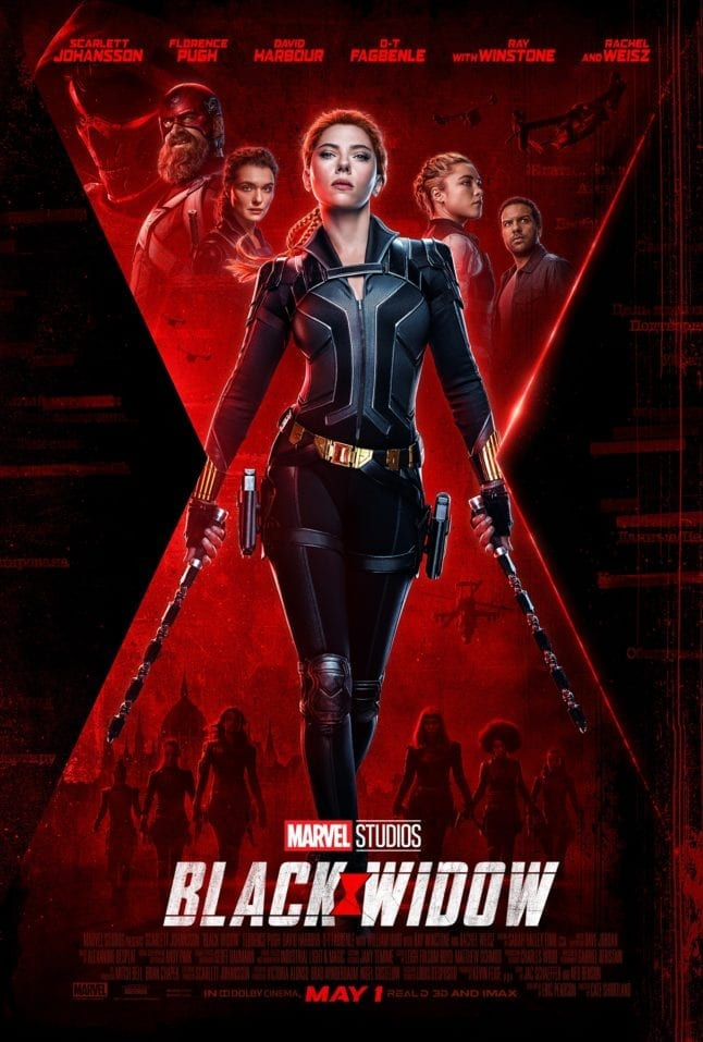 Theatrical poster for Black Widow