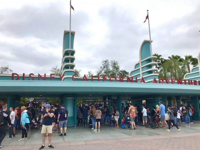 Entrance to Disney California Adventure Park