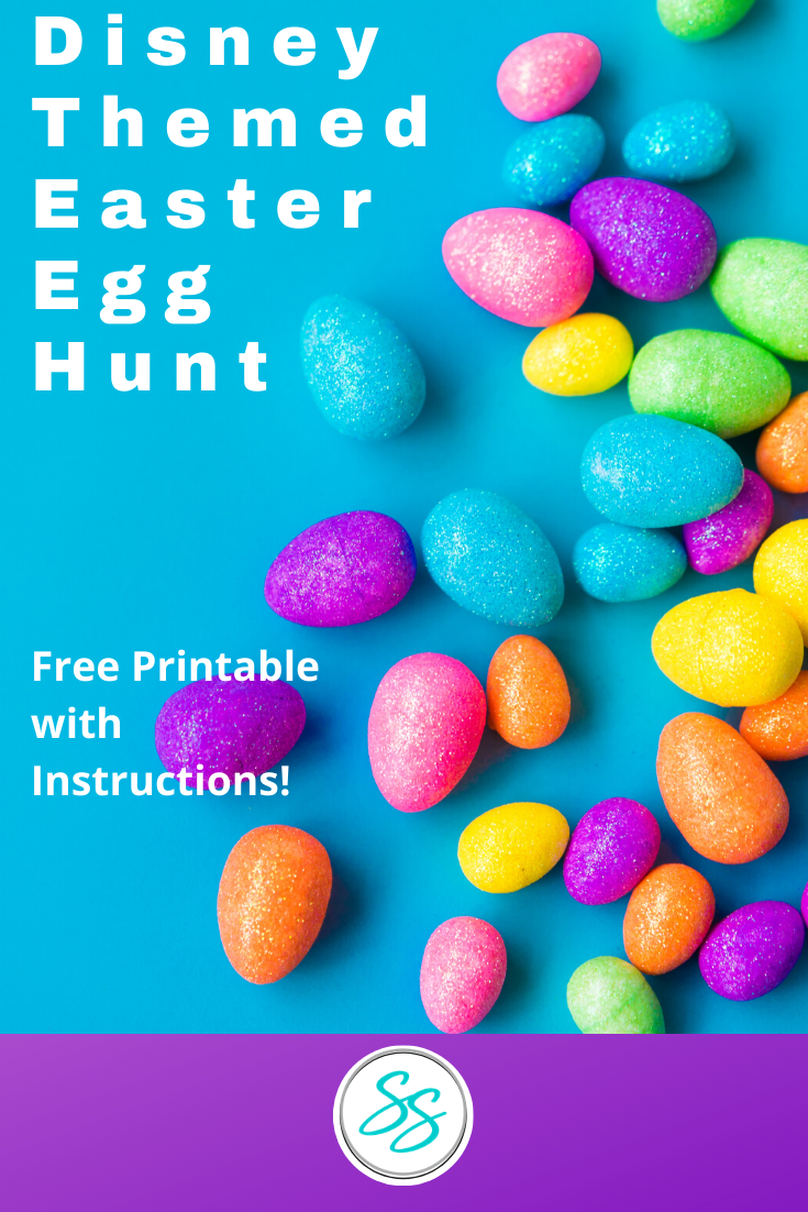 Make Easter fun with this Disney themed Easter egg hunt! Free printable and instructions! #disneyeaster #easteregghunt #freeprintable