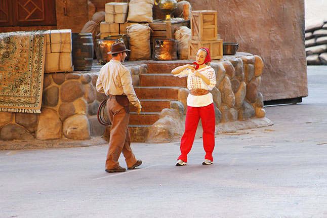One of the best shows in Hollywood Studios is the Indiana Jones Stunt Show.