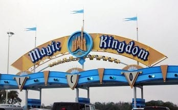 Magic Kingdom parking entrance sign at Disney World