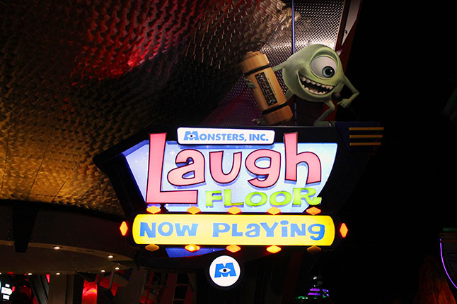 Sign for Monster's Inc. Laugh Floor