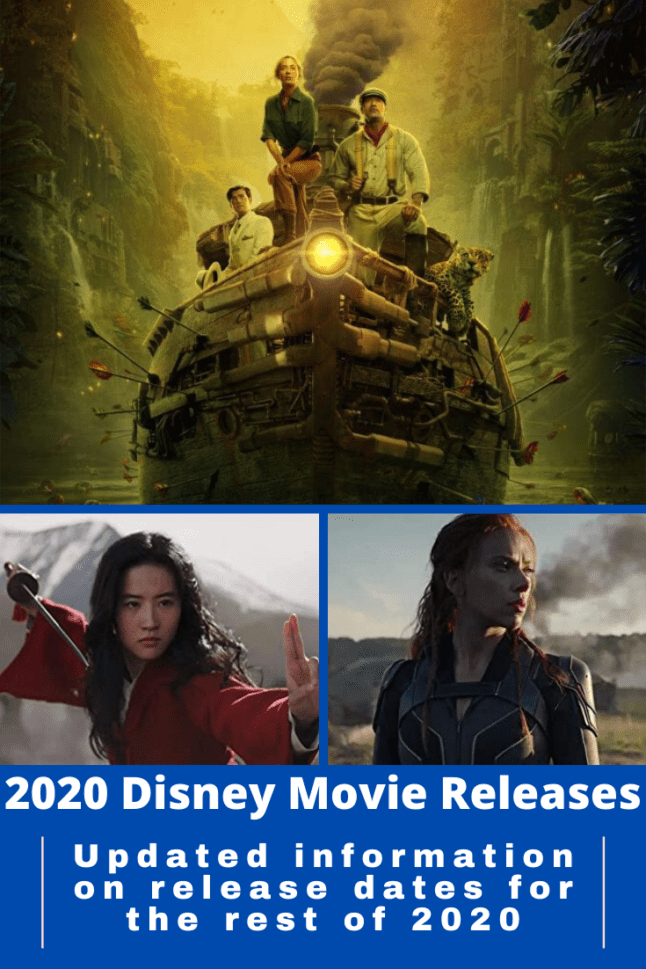 Newly updated  release dates for movies the rest of 2020. This list includes new dates for Marvel, Fox, and Disney Studios films. #disneymovies #moviereleasedates #updatedmoviedates